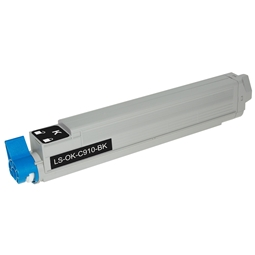 Logic-Seek  Toner kompatibel zu OKI C910 44036024 HC Schwarz