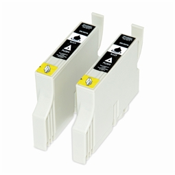 Logic-Seek 2 Tintenpatronen kompatibel zu Epson Stylus Photo 950 T0331 C13T03314010 XL Schwarz