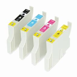 Logic-Seek 4 Tintenpatronen kompatibel zu Epson T0331-T0334 Stylus Photo 950 XL