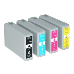 Logic-Seek 4 Tintenpatronen kompatibel zu Epson T7901-T7904 XL