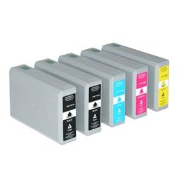 Logic-Seek 5 Tintenpatronen kompatibel zu Epson T7901-T7904 XL