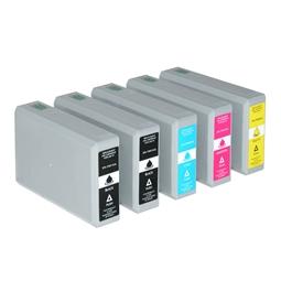 Logic-Seek 5 Tintenpatronen kompatibel zu Epson T7891-T7894 XL