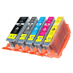 Logic-Seek 5 Tintenpatronen kompatibel zu Canon PGI-7 PGI-9 XL