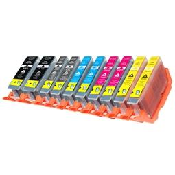 Logic-Seek 10 Tintenpatronen kompatibel zu Canon PGI-7 PGI-9 XL