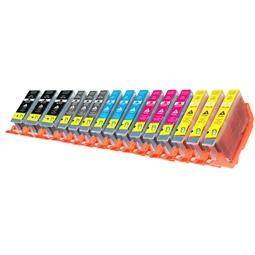Logic-Seek 15 Tintenpatronen kompatibel zu Canon PGI-7 PGI-9 XL