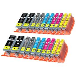 Logic-Seek 20 Tintenpatronen kompatibel zu Canon PGI-7 PGI-9 XL