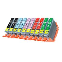 Logic-Seek 10 Tintenpatronen kompatibel zu Canon PGI-7 PGI9 XL