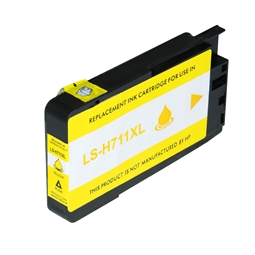 Logic-Seek  Tintenpatrone kompatibel zu HP 711 CZ132A XL Yellow
