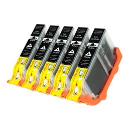 Logic-Seek 5 Tintenpatronen kompatibel zu Canon CLI-42BK 6384B001 XL Schwarz