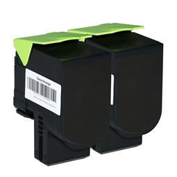Logic-Seek 2 Toner kompatibel zu Lexmark CX410 800H1 80C0H10 HC Schwarz