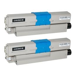 Logic-Seek 2 Toner kompatibel zu OKI ES5431 44973512 HC Schwarz