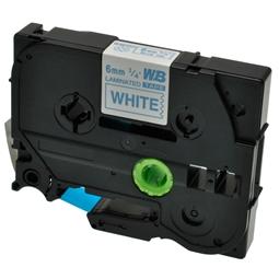 Logic-Seek 1x Schriftband kompatibel zu Brother TZE-213, Blau auf Weiss, 6mm x 8m