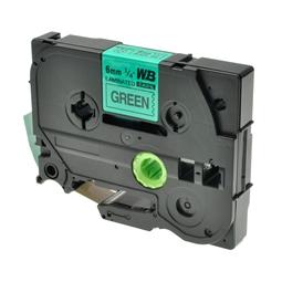 Logic-Seek 1x Schriftband kompatibel zu Brother TZE-711, Schwarz auf Grün, 6mm x 8m