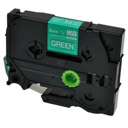 Logic-Seek 1x Schriftband kompatibel zu Brother TZE-715, Weiss auf Grün, 6mm x 8m