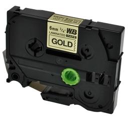Logic-Seek 1x Schriftband kompatibel zu Brother TZE-811, Schwarz auf Gold, 6mm x 8m