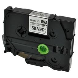 Logic-Seek 1x Schriftband kompatibel zu Brother TZE-911, Schwarz auf Silber, 6mm x 8m