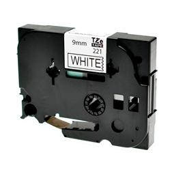 Logic-Seek 1x Schriftband kompatibel zu Brother TZE-221, Schwarz auf Weiss, 9mm x 8m
