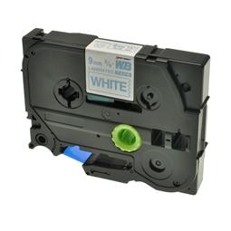 Logic-Seek 1x Schriftband kompatibel zu Brother TZE-223, Blau auf Weiss, 9mm x 8m