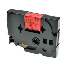 Logic-Seek 1x Schriftband kompatibel zu Brother TZE-421, Schwarz auf Rot, 9mm x 8m