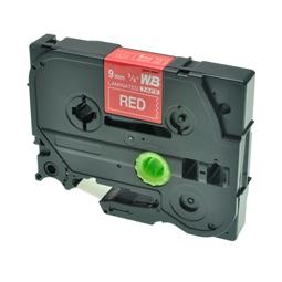 Logic-Seek 1x Schriftband kompatibel zu Brother TZE-425, Weiss auf Rot, 9mm x 8m