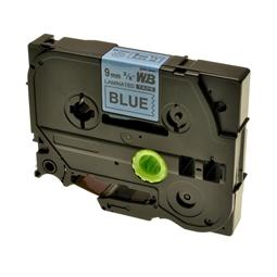 Logic-Seek 1x Schriftband kompatibel zu Brother TZE-521, Schwarz auf Blau, 9mm x 8m