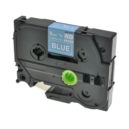 Logic-Seek 1x Schriftband kompatibel zu Brother TZE-525, Weiss auf Blau, 9mm x 8m