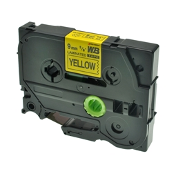 Logic-Seek 1x Schriftband kompatibel zu Brother TZE-621, Schwarz auf Gelb, 9mm x 8m