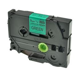 Logic-Seek 1x Schriftband kompatibel zu Brother TZE-721, Schwarz auf Grün, 9mm x 8m