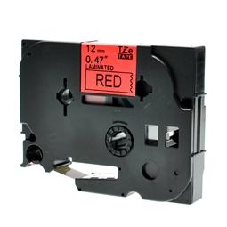 Logic-Seek 1x Schriftband kompatibel zu Brother TZE-431, Schwarz auf Rot, 12mm x 8m