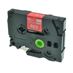 Logic-Seek 1x Schriftband kompatibel zu Brother TZE-435, Weiss auf Rot, 12mm x 8m