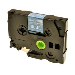 Logic-Seek 1x Schriftband kompatibel zu Brother TZE-535, Weiss auf Blau, 12mm x 8m