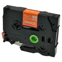 Logic-Seek 1x Schriftband kompatibel zu Brother TZE-635, Weiss auf Orange, 12mm x 8m