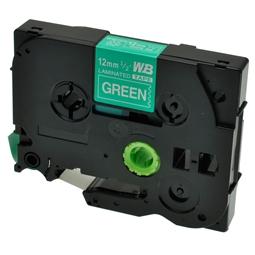 Logic-Seek 1x Schriftband kompatibel zu Brother TZE-735, Weiss auf Grün, 12mm x 8m