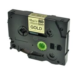 Logic-Seek 1x Schriftband kompatibel zu Brother TZE-831, Schwarz auf Gold, 12mm x 8m