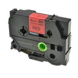 Logic-Seek 1x Schriftband kompatibel zu Brother TZE-441, Schwarz auf Rot, 18mm x 8m
