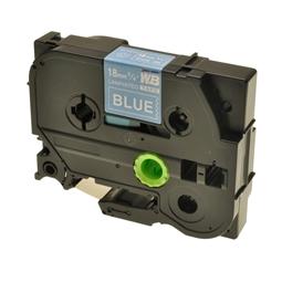 Logic-Seek 1x Schriftband kompatibel zu Brother TZE-545, Weiss auf Blau, 18mm x 8m