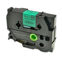 Logic-Seek 1x Schriftband kompatibel zu Brother TZE-741, Schwarz auf Grün, 18mm x 8m