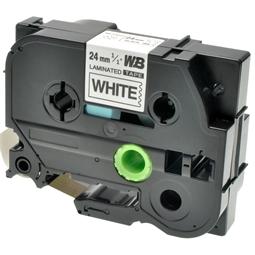 Logic-Seek 1x Schriftband kompatibel zu Brother TZE-251, Schwarz auf Weiss, 24mm x 8m