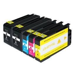 Logic-Seek 5 Tintenpatronen kompatibel zu HP 711 XL