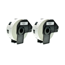Logic-Seek 2x Etiketten kompatibel zu Brother DK-11218, 24mm