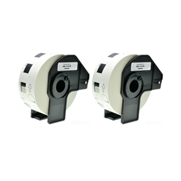 Logic-Seek 2x Etiketten kompatibel zu Brother DK-11219, 12mm