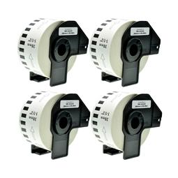 Logic-Seek 4x Etiketten kompatibel zu Brother DK-22225, 38mm x 30.48m