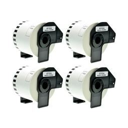 Logic-Seek 4x Etiketten kompatibel zu Brother DK-44205, 62mm x 30.48m