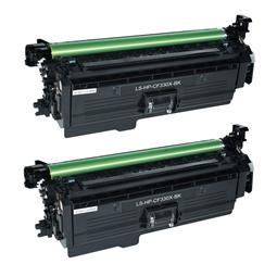Logic-Seek 2 Toner kompatibel zu HP 654X CF330X HC Schwarz