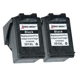 Logic-Seek 2 Tintenpatronen kompatibel zu HP 301X CH563EE XL Schwarz