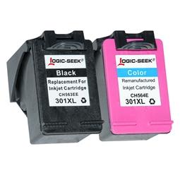 Logic-Seek 2 Tintenpatronen kompatibel zu HP 301 XL