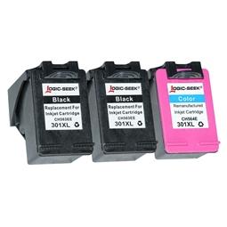 Logic-Seek 3 Tintenpatronen kompatibel zu HP 301 XL