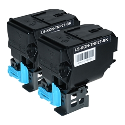 Logic-Seek 2 Toner kompatibel zu Konica Bizhub TNP-27K A0X5153 HC Schwarz