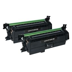 Logic-Seek 2 Toner kompatibel zu HP 653X CF320X HC Schwarz