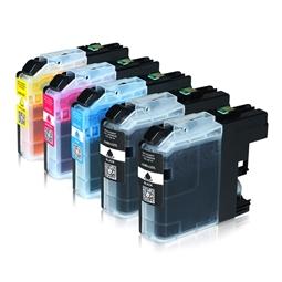 Logic-Seek 5 Tintenpatronen kompatibel zu Brother LC-225XL LC-227XL XL